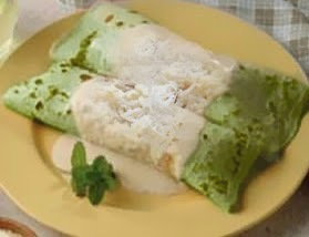 Receita de Panqueca de espinafre com recheio de queijo