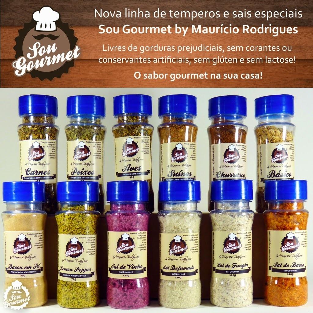 Nova Linha de Temperos Sou Gourmet by Maurício Rodrigues