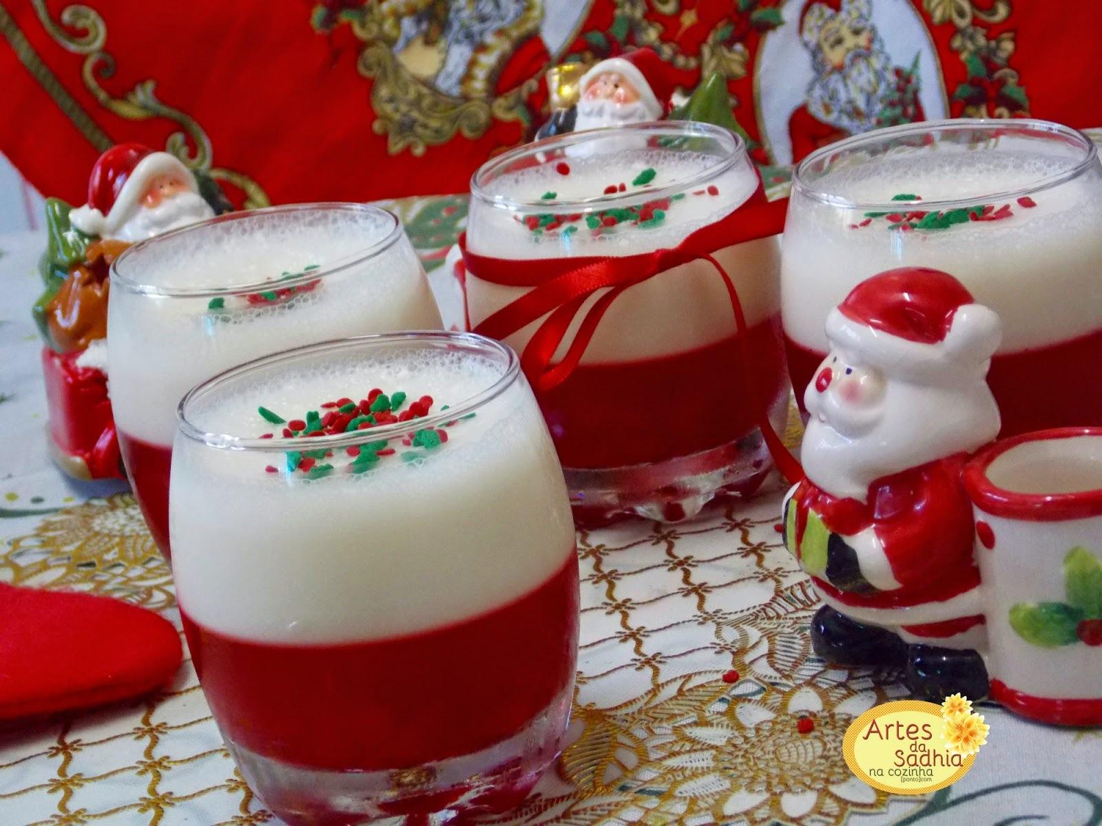 gelatina  com cerejas e mousse de  champanhe