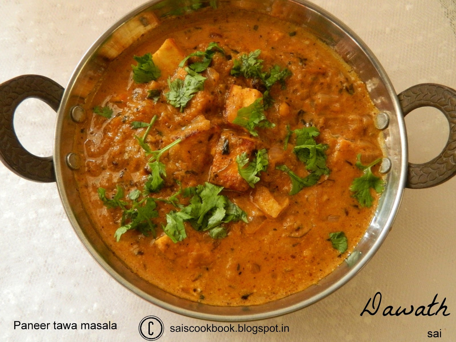 shahi paneer in hindi by tarla dalal