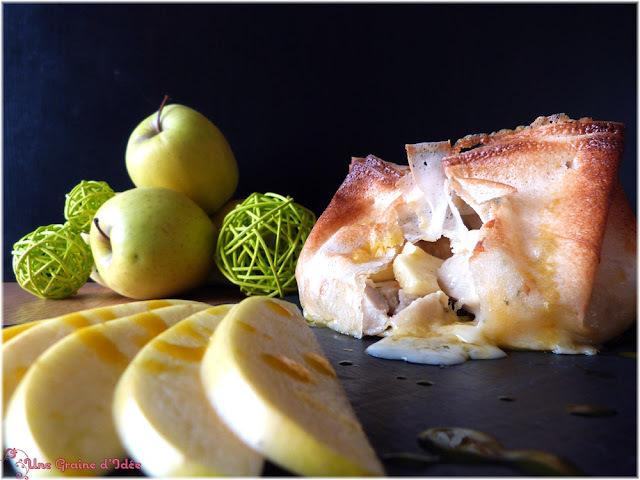 Aumônière Boudin Blanc, Pommes & Camembert