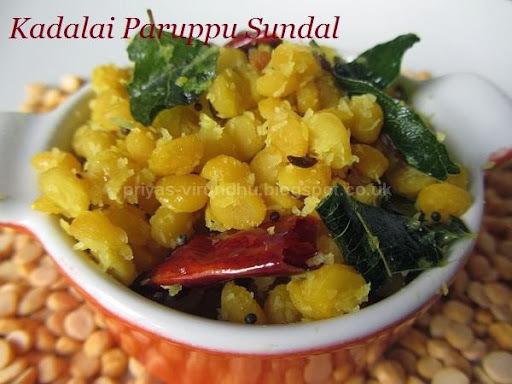 Kadalai Paruppu Sundal/Chana Dal Sundal [Navarathri Special]