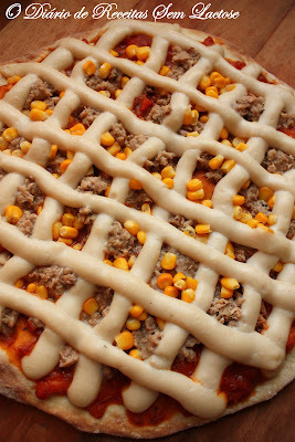 Pizza - Massa Sem Lactose e Sem Ovos
