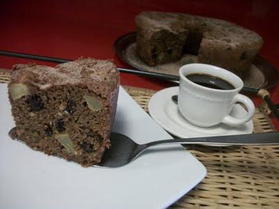 bolo de maça com canela passas nozes açucar mascavo castanha