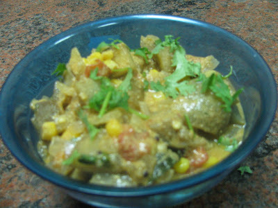 Brinjal Corn Curry