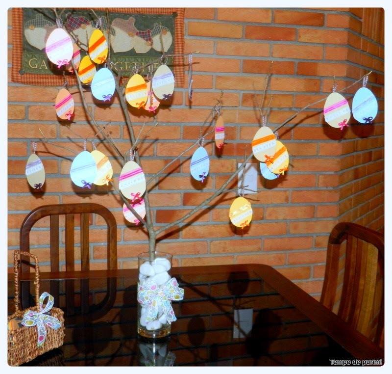 Decoração de Páscoa interativa - árvore de desejos