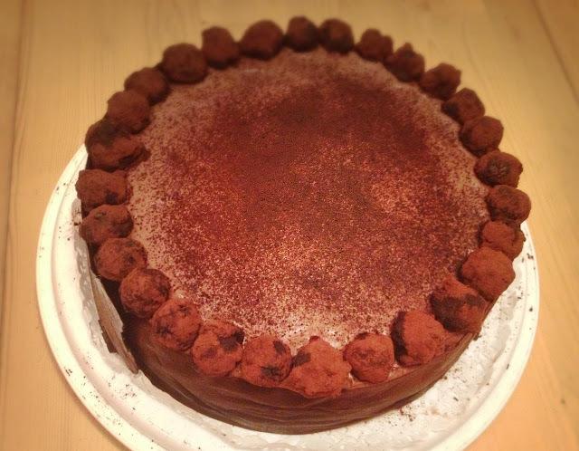 Ľahučká čokoládová torta