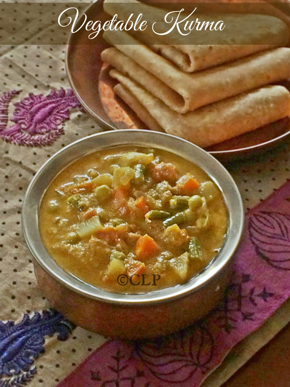 Mixed Vegetable Kurma | Hotel Style Chappati Kurma | South Indian Vegetable Kurma