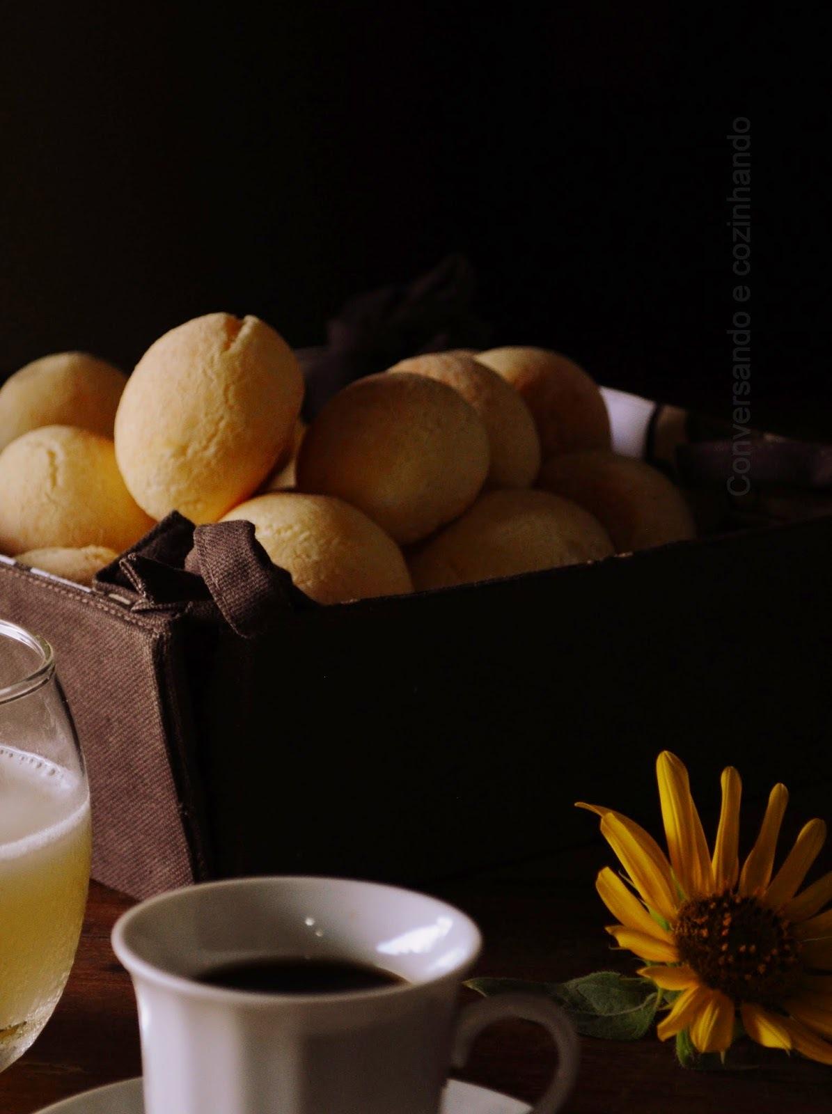 Estreando no pão de queijo