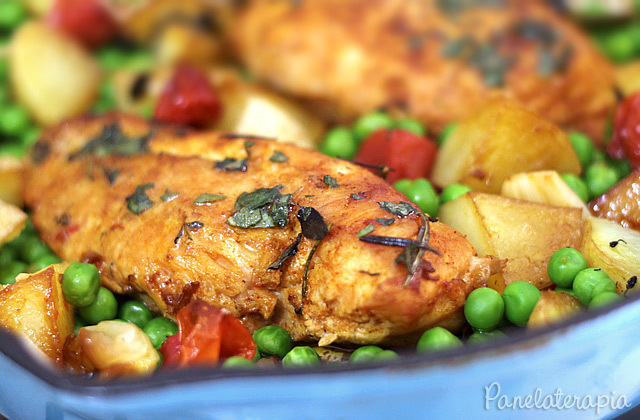 peito de frango congelado e temperado