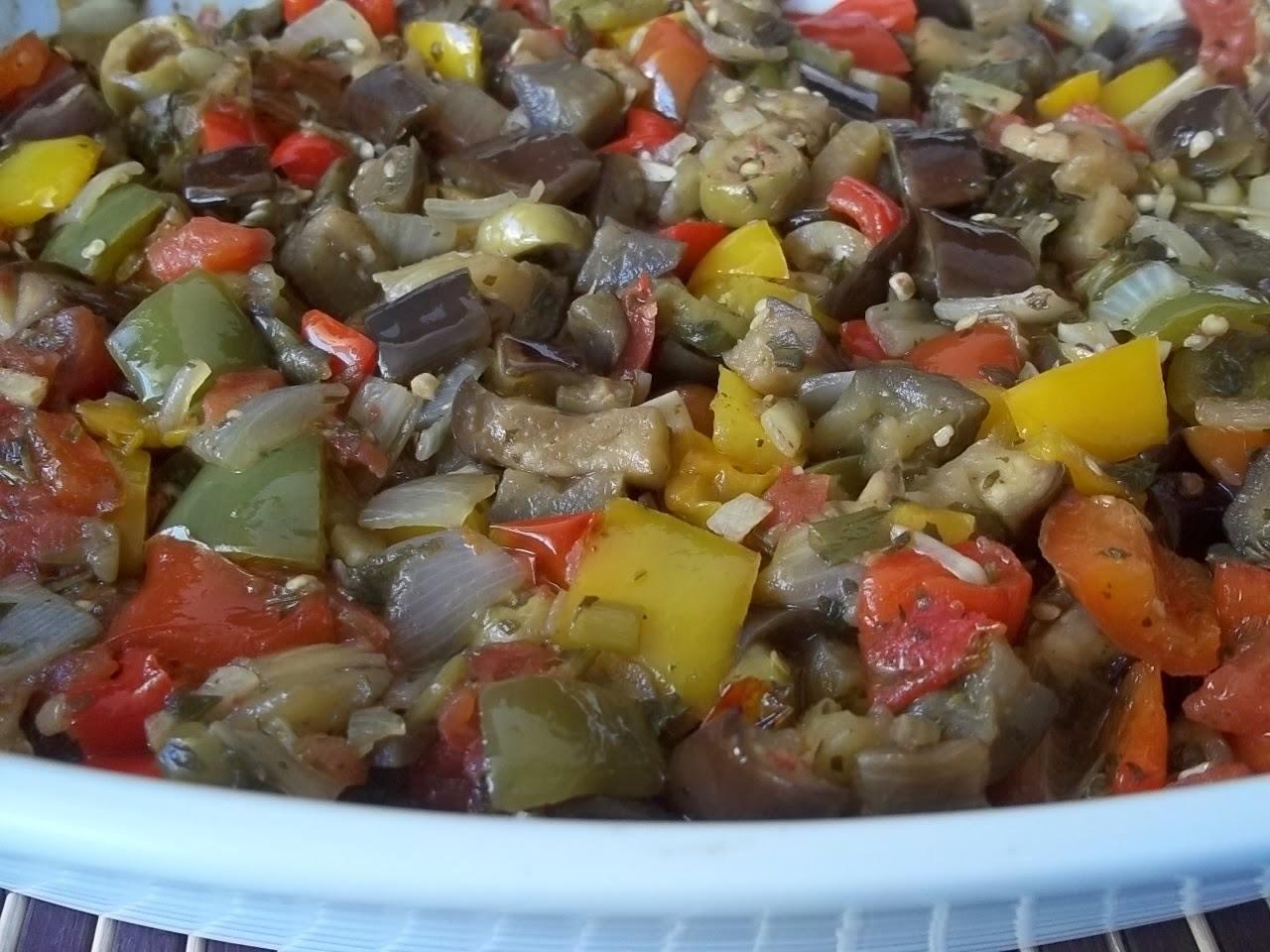 salada de berinjela marroquina