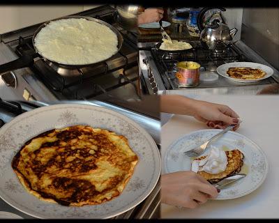 Omelete souflée doce