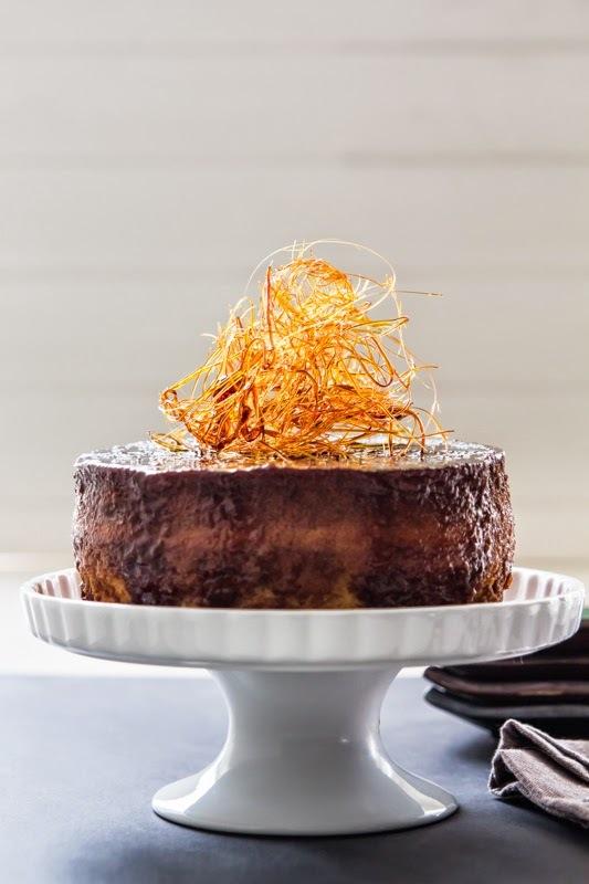 como hacer una torta de quesillo de medio kilo
