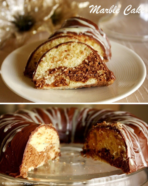 Marble Cake with Chocolate Ganache
