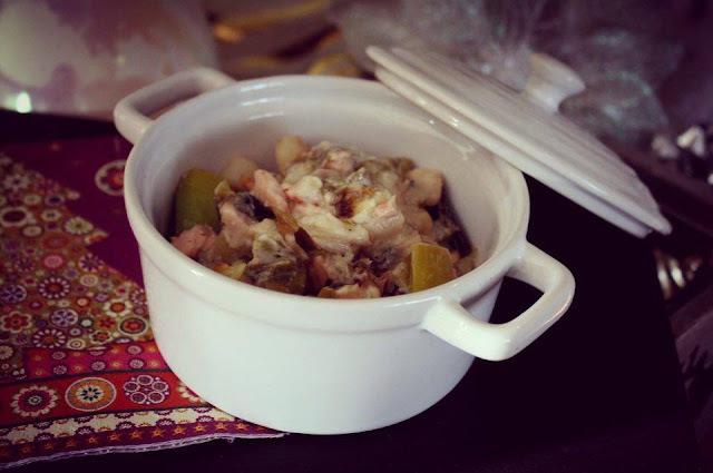Cocottes de saumon et Saint Jacques