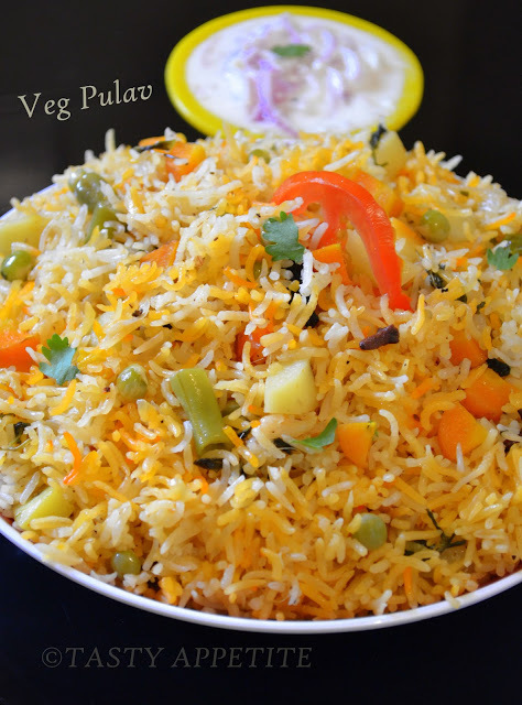 Vegetable Pulav / Veg Pulao / Step by Step: