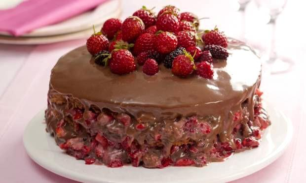 bolo de chocolate seco