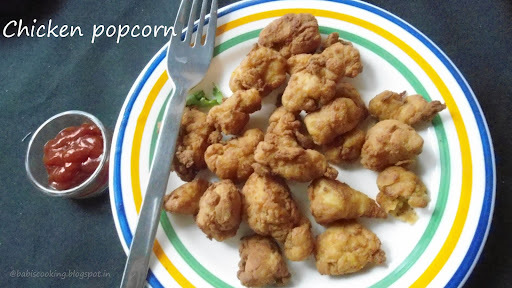 Homemade Chicken Popcorn | Chicken Recipe  | Step by Step pictures