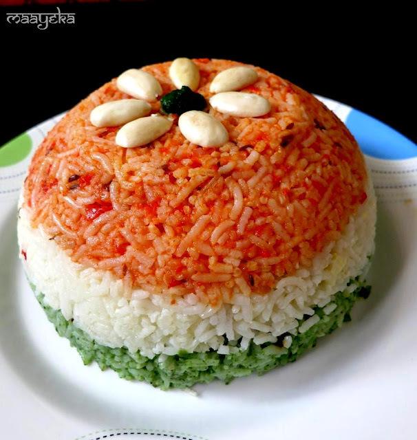 Tiranga Pulao / Vegetable Pilaf
