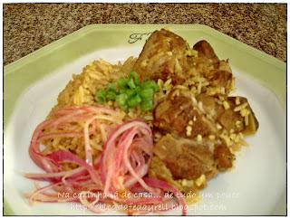 arroz tropeiro com carne seca