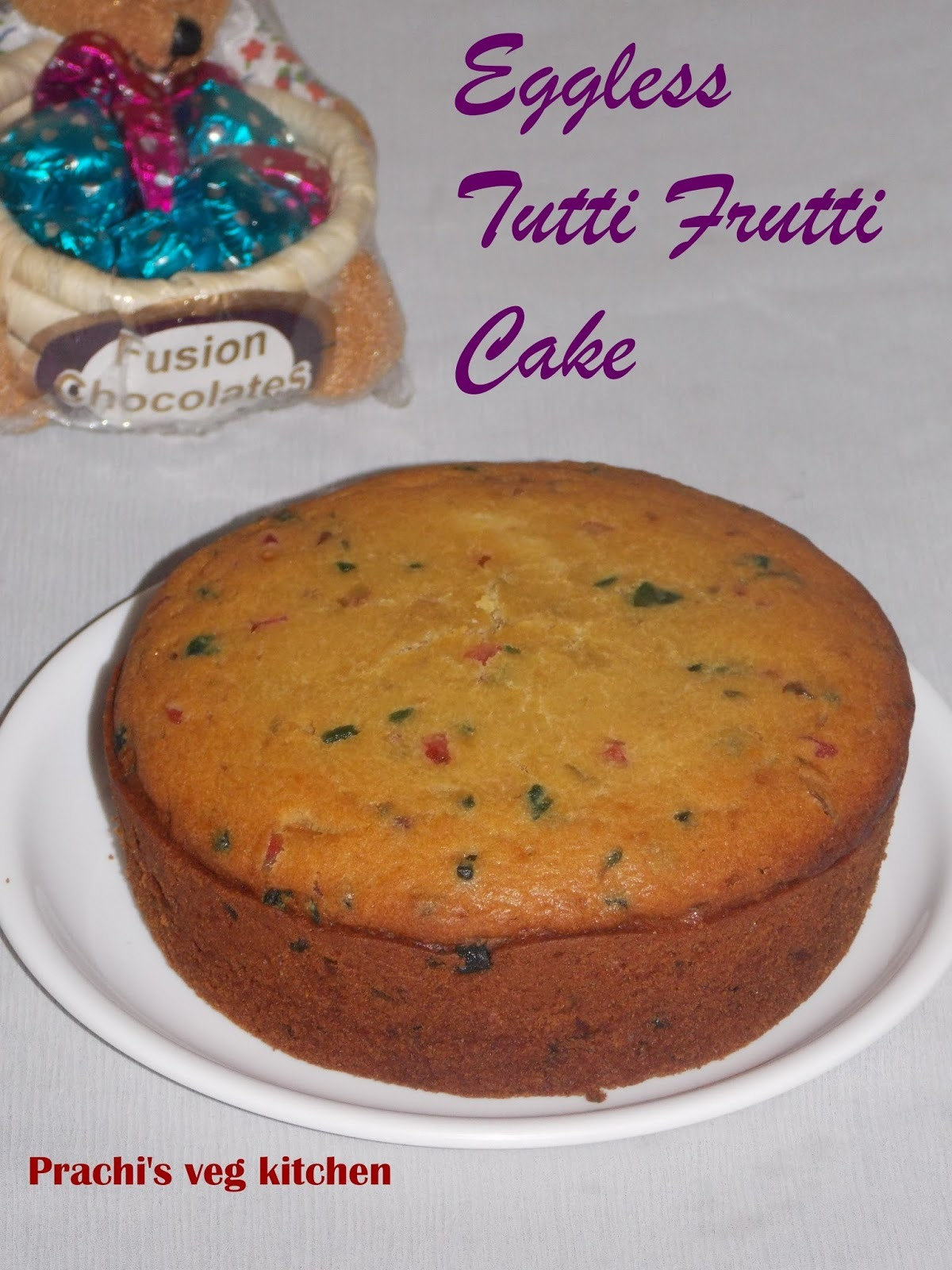 Eggless Tuffi Frutti Cake/ No butter |No Condensed milk | without oven