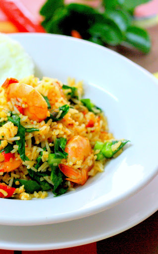 Nasi Goreng Belacan Udang ( Shrimp Paste And Prawn Fried Rice)