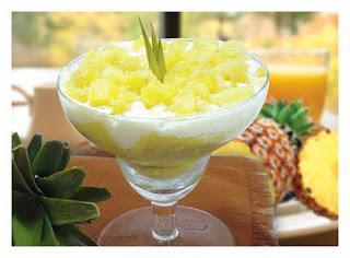 Receita de pavê de abacaxi com bolachas champagne