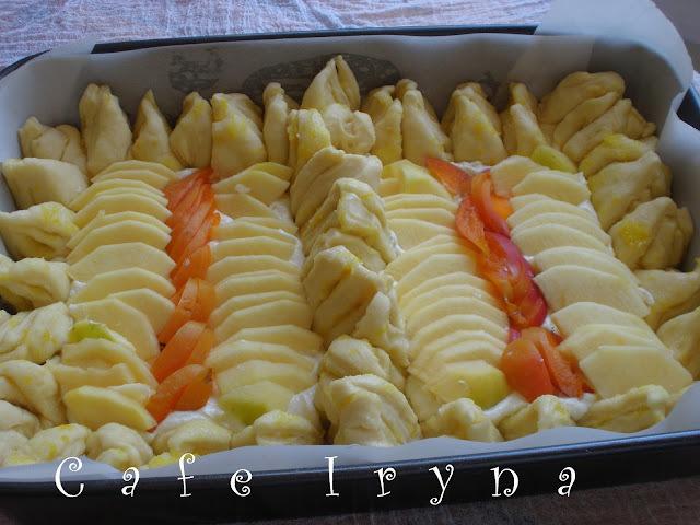 Дрожжевой пирог с яблочно-лимонно-творожной начинкой-во как!