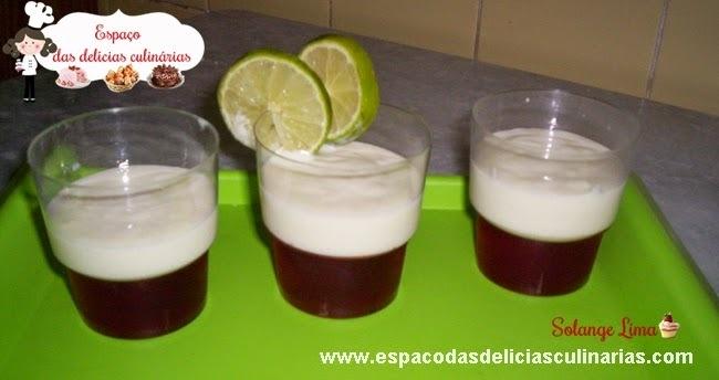 Gelatina com mousse de limão (com leite condensado caseiro)