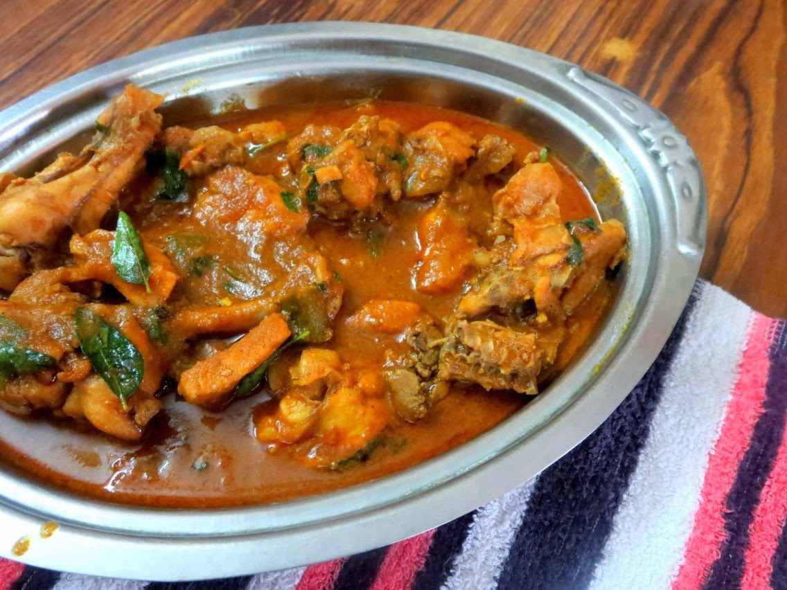 Andhra Style Chicken Curry ~ No Coconut Version