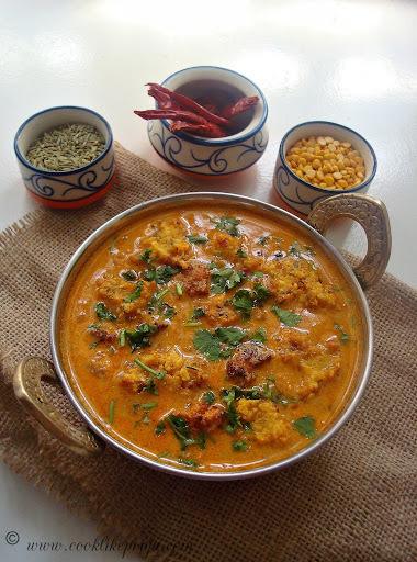 Chettinad Pakkoda Kuzhambu   Chettinad Lentil Curry   Pakoda Kuzhambhu Recipe