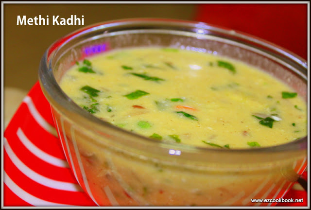 Methi Kadhi / Fenugreek Yogurt Soup