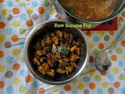 Raw Banana fry -Vaalaikai varuval