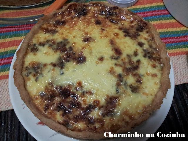 Quiche 4 queijos