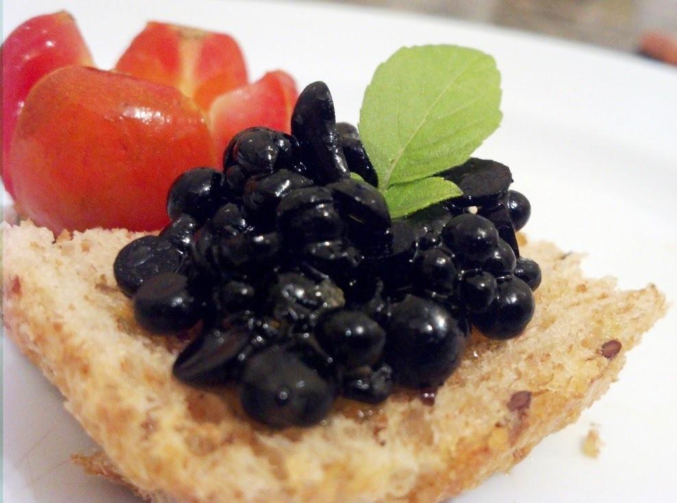 Falso caviar: versões com ágar e sagu