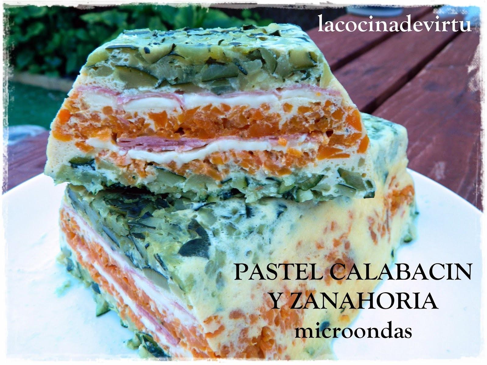 Pastel Calabacín y Zanahoria al microondas