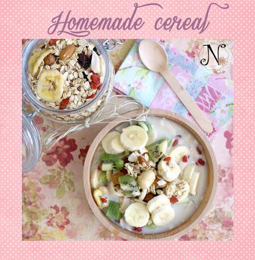 Healthy recipe: Homemade cereal / Domača mešanica kosmičev