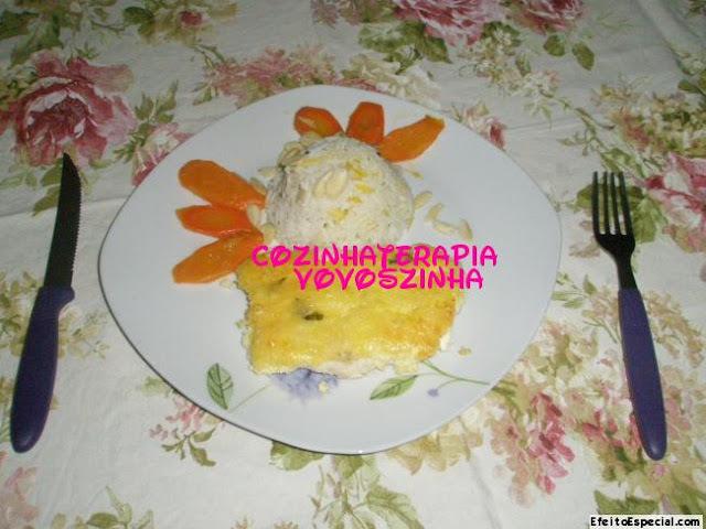 Filé com crosta de queijo e arroz basmati com raspa de limão siciliano