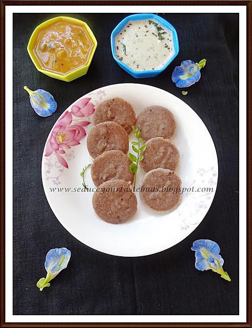 Instant Ragi - Wheat Rava Idli
