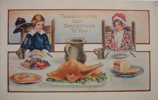 Anciens menus du Thanksgiving Day, fête nationale américaine, 26 novembre 2015