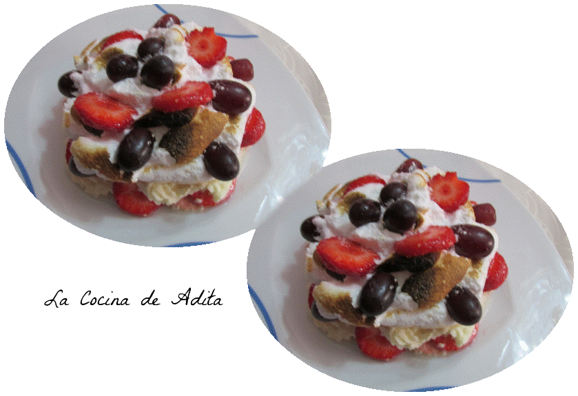 TARTITAS DE MERENGUE CON FRUTAS