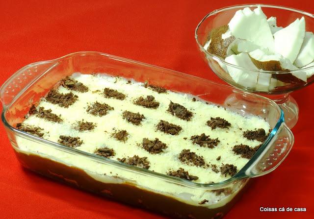 pave de chocolate com bolacha maizena com chocolate meio amargo
