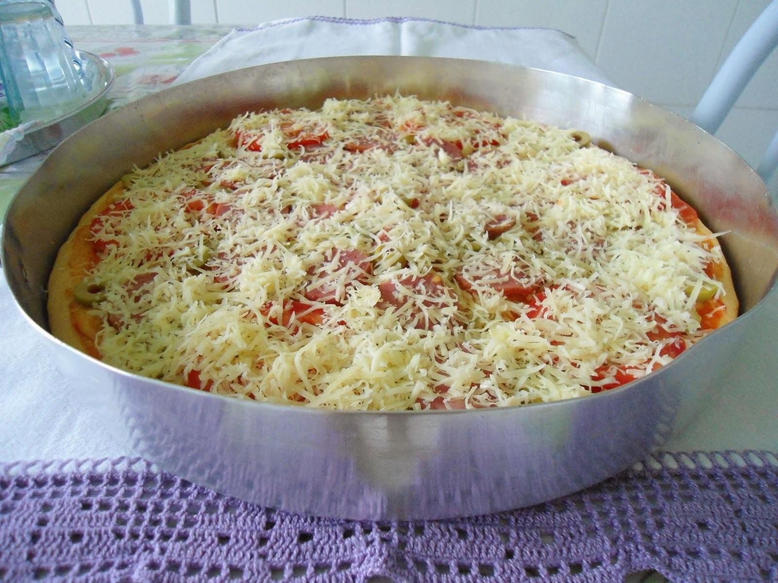 Pizza caseira deliciosa