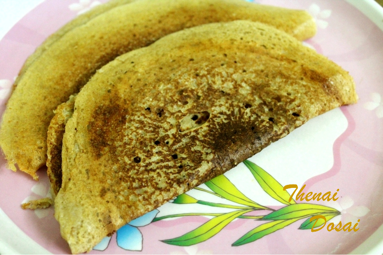 Thinai Dosai / Fox Millet Dosai