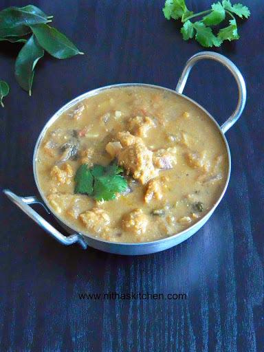 Chettinad Pakoda Kuzhambu | Lentil Fritters Coconut Curry | SN Challenge