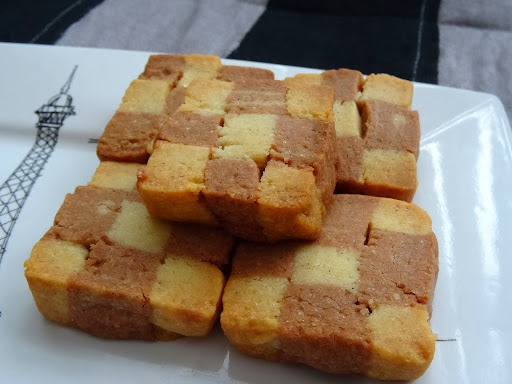奶油棋盤餅乾 SHORTBREAD CHECKERBOARD COOKIES