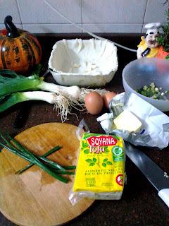 Tarta (quiche) de Tofu y Puerros