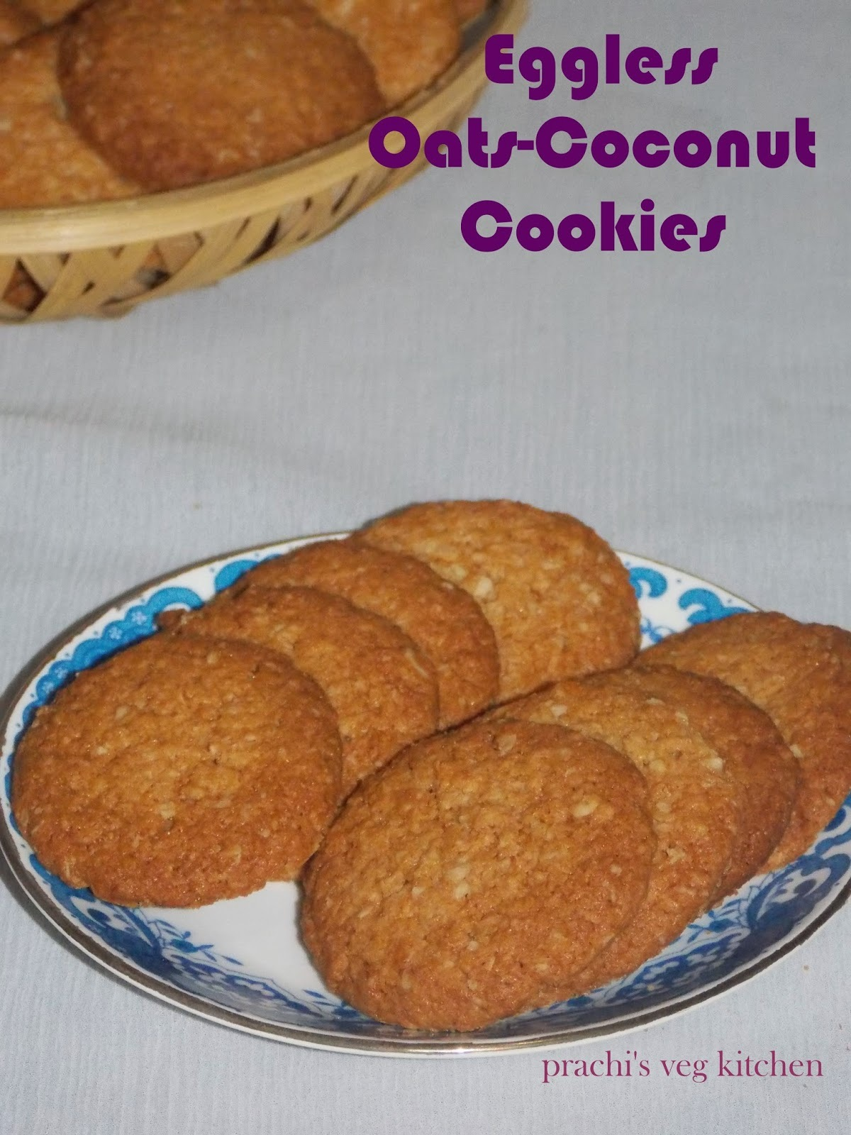 Eggless Oats-Coconut Cookies