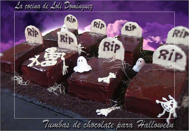Tumbas de chocolate para Halloween