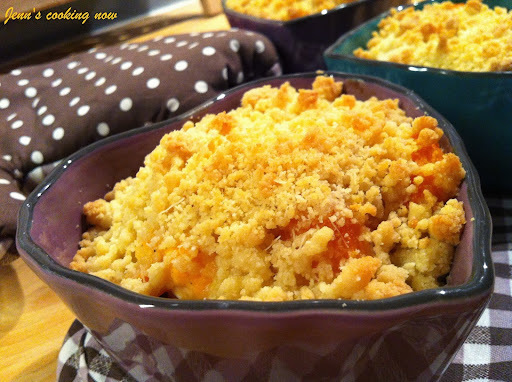 Crumble de potimarron, carotte et poulet